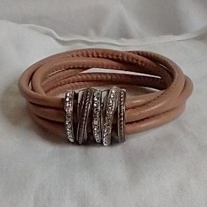 Brighton Neptune's Rings Bracelet with jewelry bag